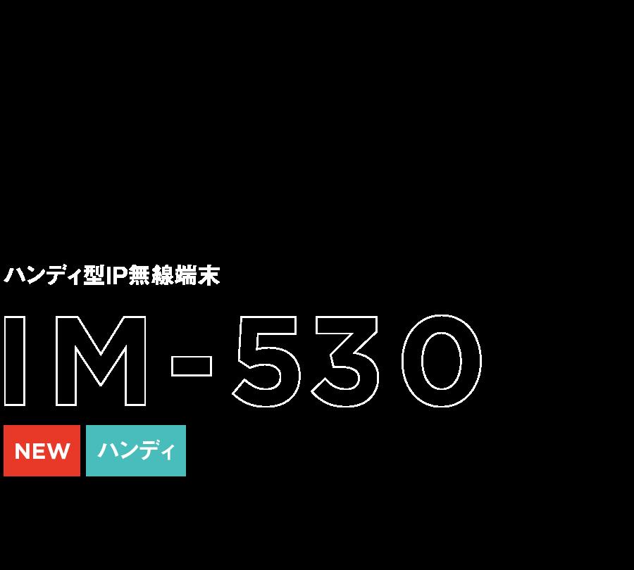 ハンディ型IP無線端末 IM-530